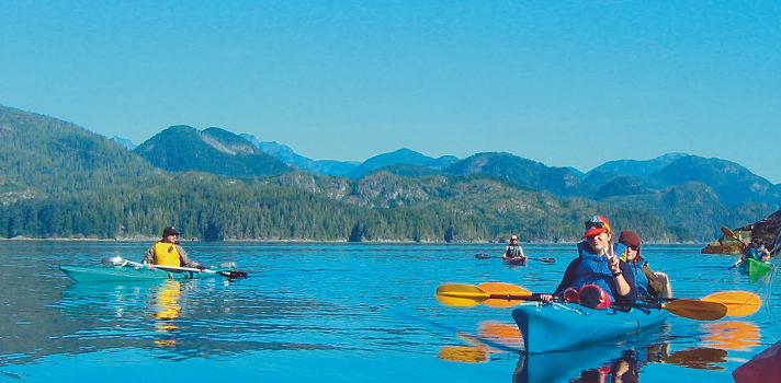 Kayaking im Sprachaufenthalt